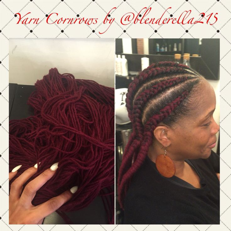 The new braid trend for 2016 in Philly! Yarn cornrows (braids) Great ...