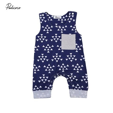 4f4d14ed0 Pudcoco Newborn Baby Boy Girl Clothing Sleeveless Triangle Print ...