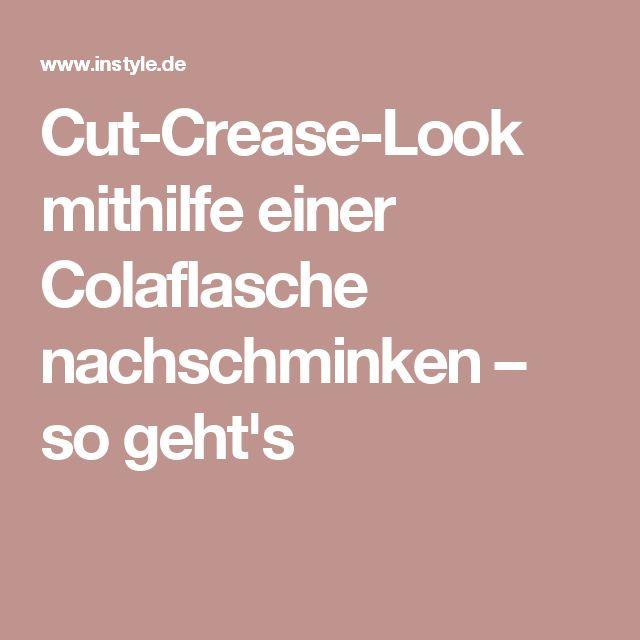 Cut-Crease-Look mithilfe einer Colaflasche nachschminken – so geht's