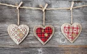 Resultado de imagen para corazones de tela y papel