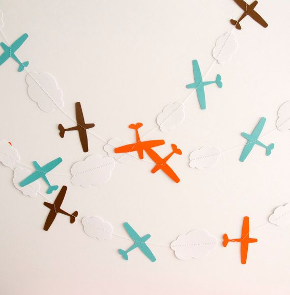 Hey, I found this really awesome Etsy listing at https://www.etsy.com/listing/182049459/paper-garland-airplane-garland-birthday