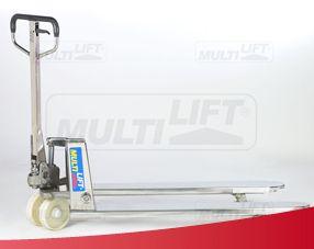 Patín hidráulico de acero inoxidable, llantas tandem de nylamid, capacidad de carga de 2,000 kgs. Más información aquí: http://montacargas.com.mx/patines-hidraulicos/