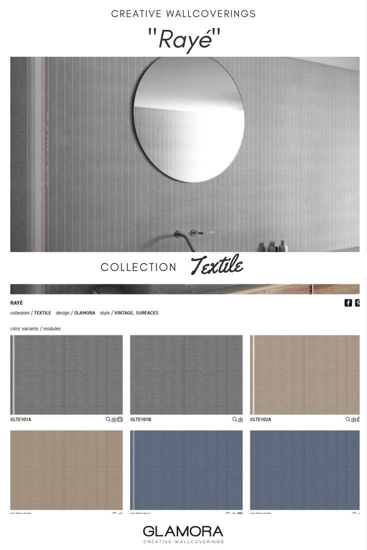 Rayé // Vintage Wallcovering | Textile Collections by Glamora
