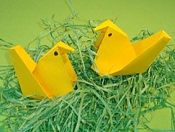 Hühner basteln, Easter Chicks Origami, Chicks, Animal Origami Pattern, how to , steb by step, Tutorial, kawaii, adorable, cute papercrafts for kids