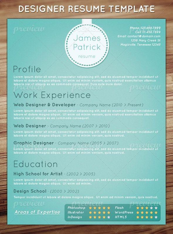 free cv resume templates and mockups  graphic designer resume     Curriculum Vitae  CV    pinterest com edevantie