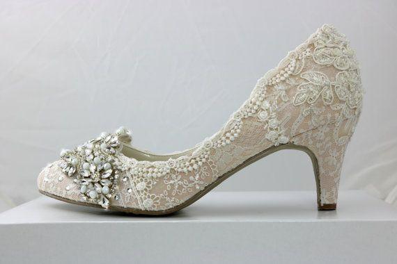 Blush Wedding Shoes . Mid-heel Wedding by everlastinglifashion