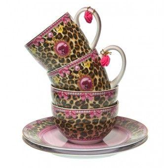 Little Diva - Tableware set of 6 - Leopard - GBP 44,95 - #Gift