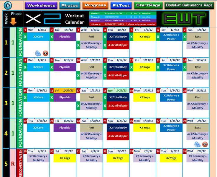 Tony Horton 10 Minute Trainer Workout Calendar Pdf