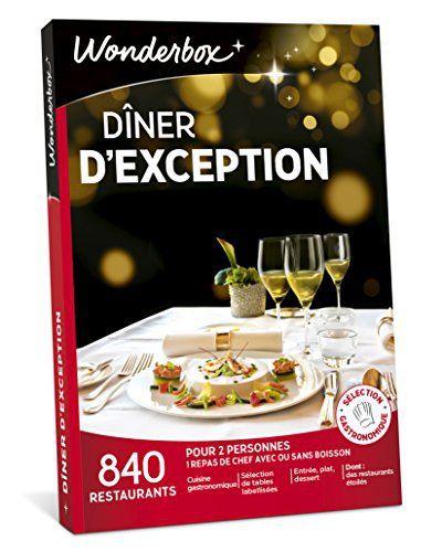 WONDERBOX – Coffret cadeau – DÎNER D'EXCEPTION: Ce délicieux coffret va combler plus d'un fin gourmet! Wonderbox met dans votre assiette…