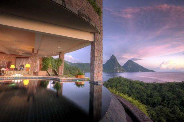 Jade Mountain Resort -St.Lucia.Karib-tenger