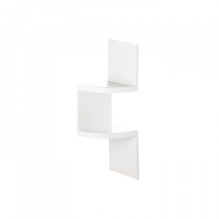 2-tier White Corner Shelf