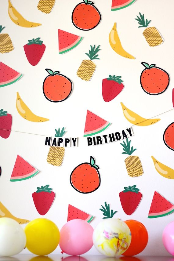 printables for a fruit-themed party