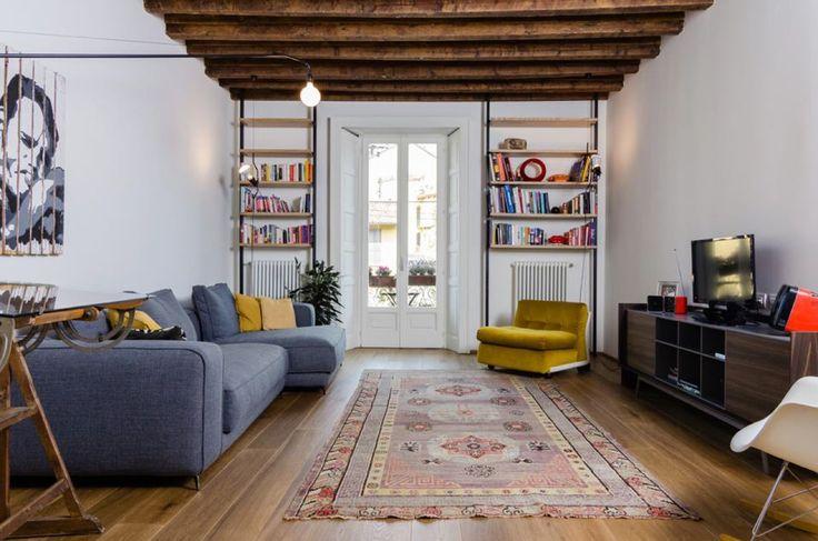 Un appartamento vintage sui Navigli milanesi