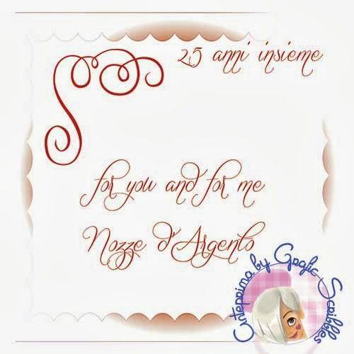 Nozze d'Argento, biglietto speciale - stampabile free | Grafic Scribbles
