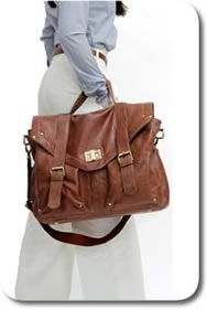 an uber stylish diaper bag with rings for hanging it on the stroller! smart!!