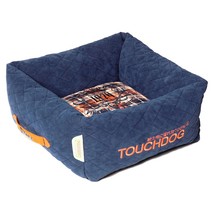 Pet Life Touchdog Exquisite-Wuff Posh Rectangular Diamond Stitched Fleece Plaid Dog Bed - PB44DBLLG