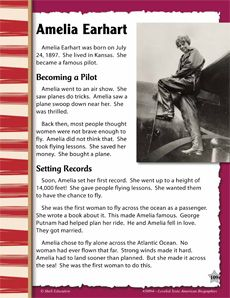 Today is #AmeliaEarhart's birthday! Read all about her incredible life with our leveled text biography and start planning your next adventure! #biography #differentiation