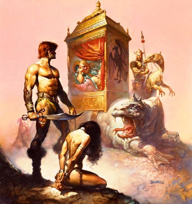 The Chronicles of Counter Earth / 1 / Tarnsman of Gor / 1977 (Boris Vallejo)