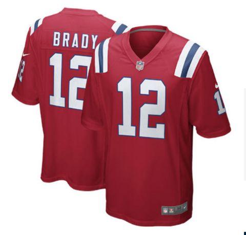Men's New England Patriots #12 Tom Brady Red Nike NFL Vapor Untouchable Limited Jersey