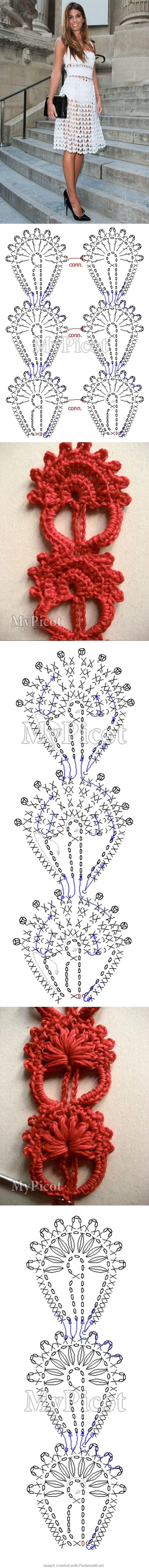 dolce & gabbana crochet dress - photo tutorial & charts - lovely: