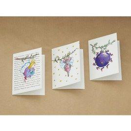 Setje met 6 wenskaarten van Illu-Straver. Thema: kerst