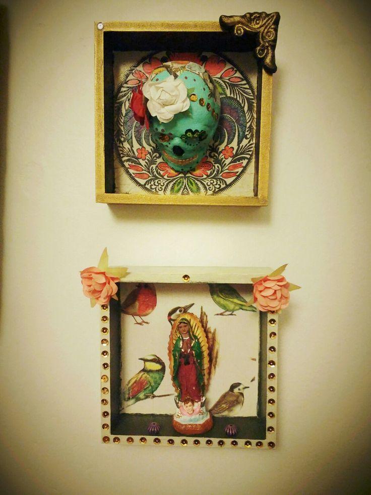 Altares decorativos #virgen #calaca