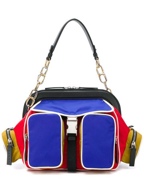 957c5ce8a57 Marni Colourblock Shoulder Bag - Farfetch