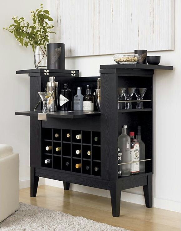 Great For A Modern Yet Homey Look Parker Spirits Ebony Cabinet Crate And Barrel