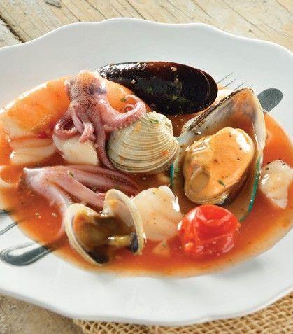 """""""Sopa de mariscos"""" al estilo Cocina Fácil"""