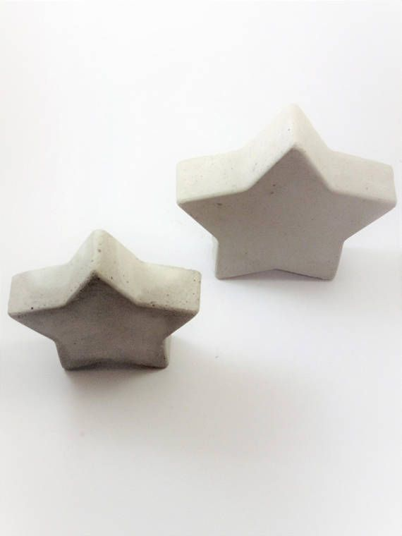 Concrete stars for Christmas and holiday decoration