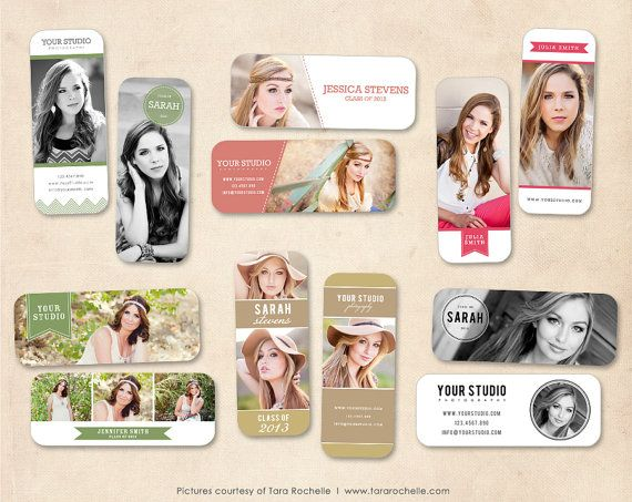 Senior Rep Card Template Photoshop Senior by MarketingMall on Etsy, $15.00