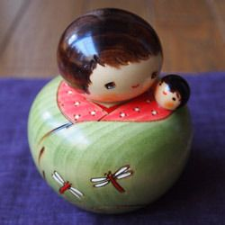 Kokeshi mom and baby
