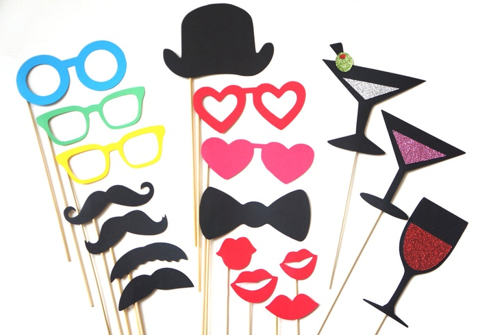 Love this! $30  Photo Booth Props - The Boogie Nights Collection - 18 piece prop set - Birthdays, Weddings, Parties - Photobooth Props