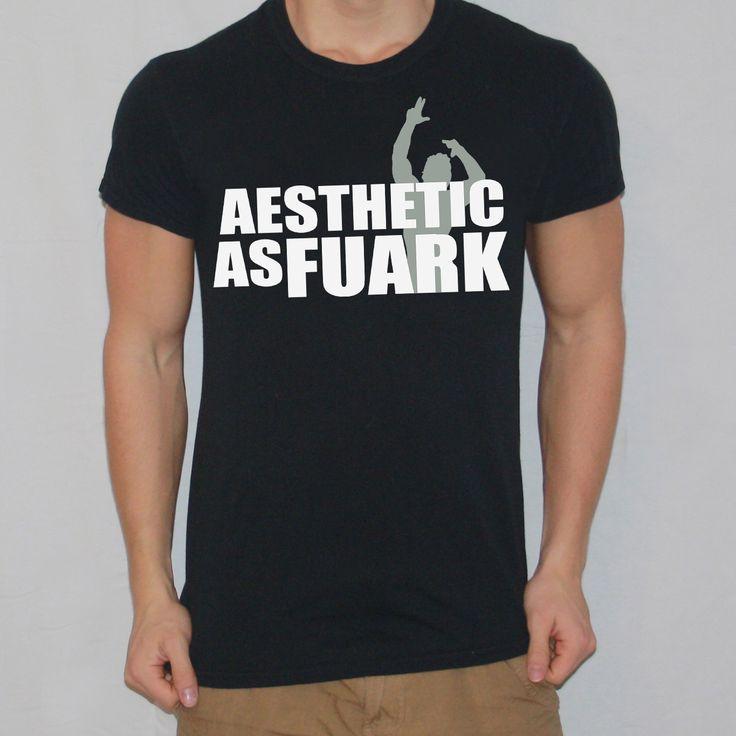 Zyzz Aesthetic As FUARK T-shirt designed by Ripped Generation! #Zyzz #RippedGeneration #GymWear #GymApparel #FUARK