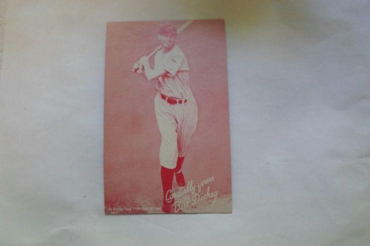 1980 EXHIBIT CARD HOF BILL DICKEY