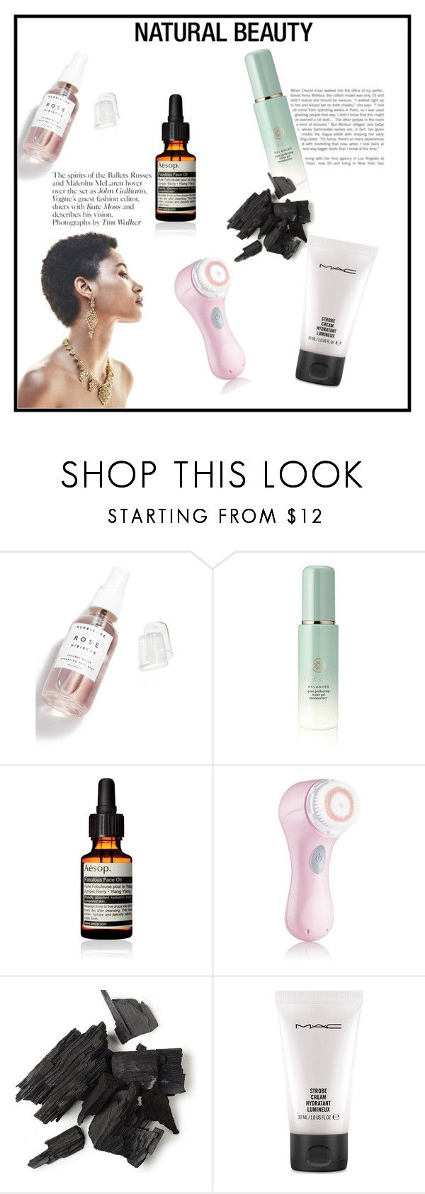 """""""it's all about naturalness"""" by anamariahodinet on Polyvore featuring beauty, Herbivore, Tatcha, Aesop, Clarisonic and MAC Cosmetics"""