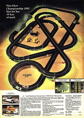 Tyco slot car racing set. Spent hours at our neighbors with this