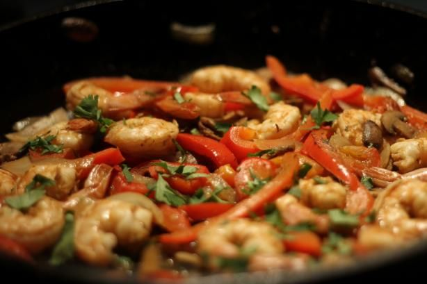shrimp fajitas that taste just like Chili's!