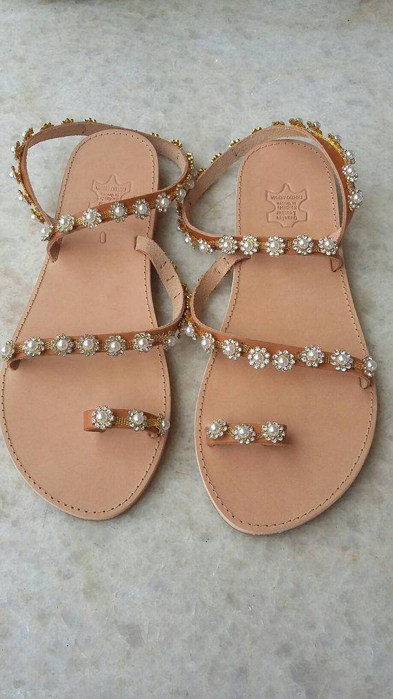 56a55e280f96ad IOKASTI greek genuine leather sandals bridal sandals