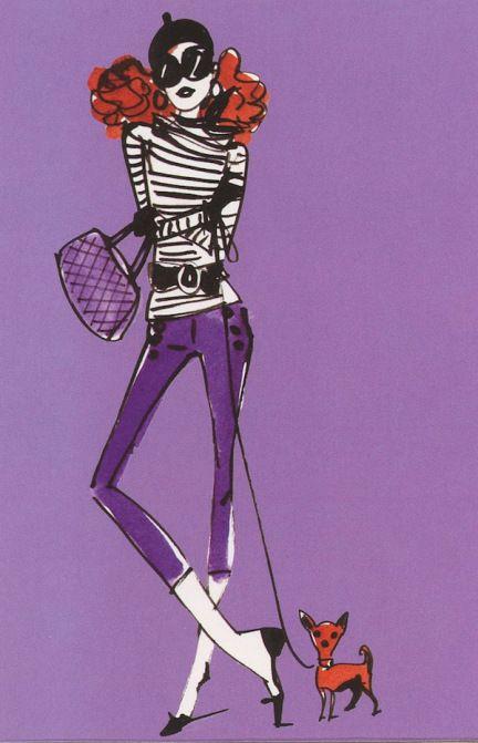 Izak Zenou fashion illustration