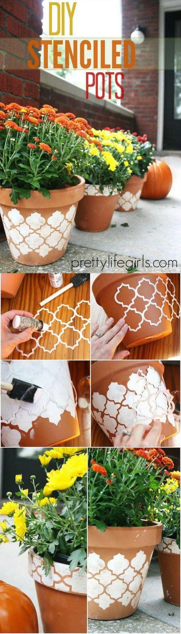 Dale más estilo a las macetas con estos patrones