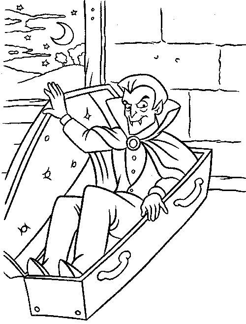 174 best halloween color page images on pinterest for Dracula coloring pages