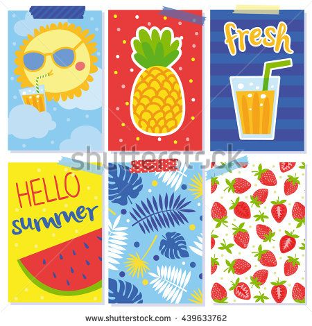 cute set with summer cards