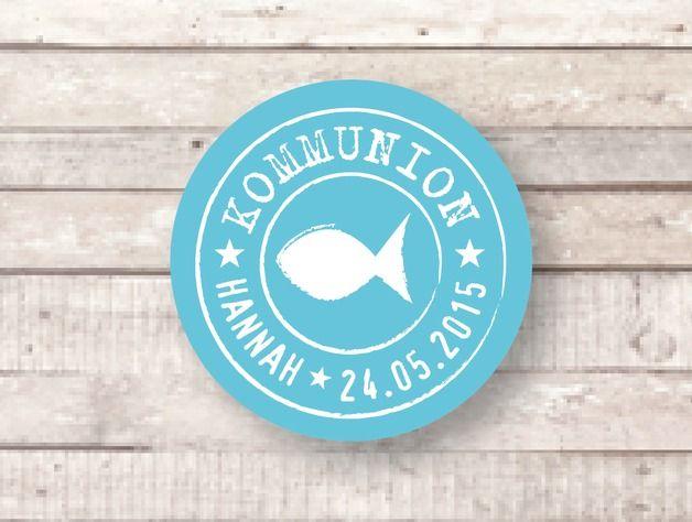 *24 Aufkleber für die Kommunion oder Konfirmation* Individuelle Aufkleber für Einladungen, Dankekarten oder Gastgeschenke. 24 Sticker mit dem Namen des Kindes und Kommunionsdatum. Es sind 24...