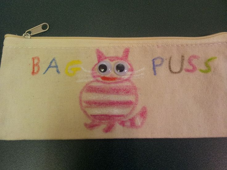 It's a Bagpuss bag... geddit? Designed and made by one of our volunteers while on study.