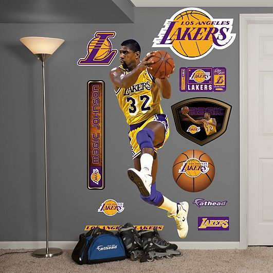 Fathead Magic Johnson Los Angeles Lakers   Wall Sticker, Mural, U0026 Decal  Designs At Wall Sticker Outlet