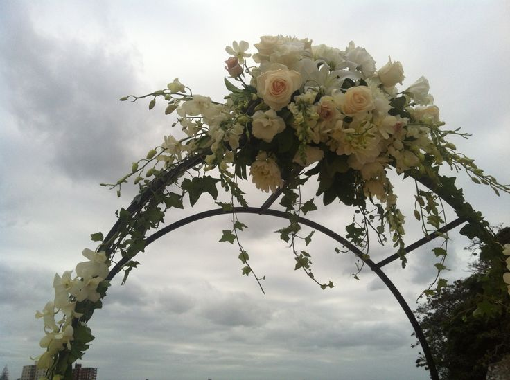Arch with flowers