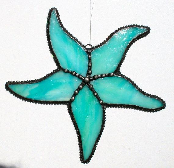 Starfish Suncatcher Stained Glass