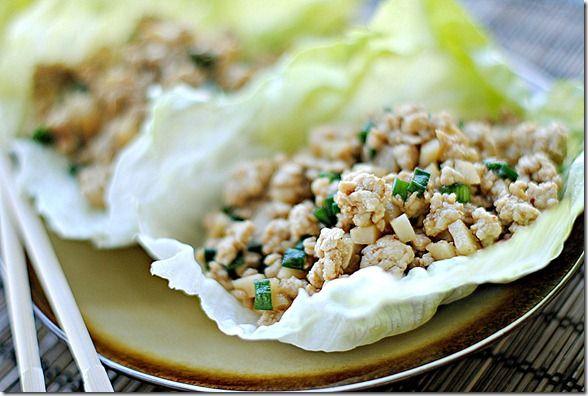 healthy lettuce wrapsLettuce Cups, Asian Chicken, Wraps Recipe, Asian Lettuce, Pf Change, Chicken Lettuce Wraps, Ground Turkey Lettuce Wraps, Change Style, Change Lettuce