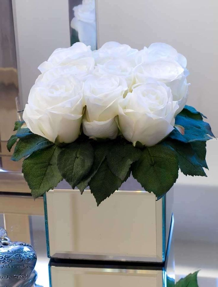 White Artificial Flowers In Vase